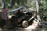 Yamaha Rhino on the Barrett Lake Jeep Trail