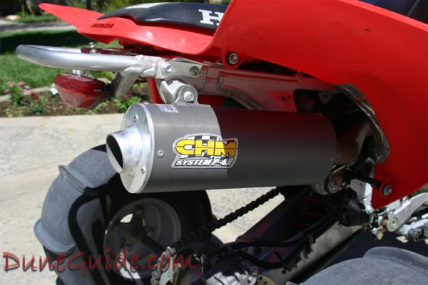 CHM System P-4R TRX 450R Oval Pipe