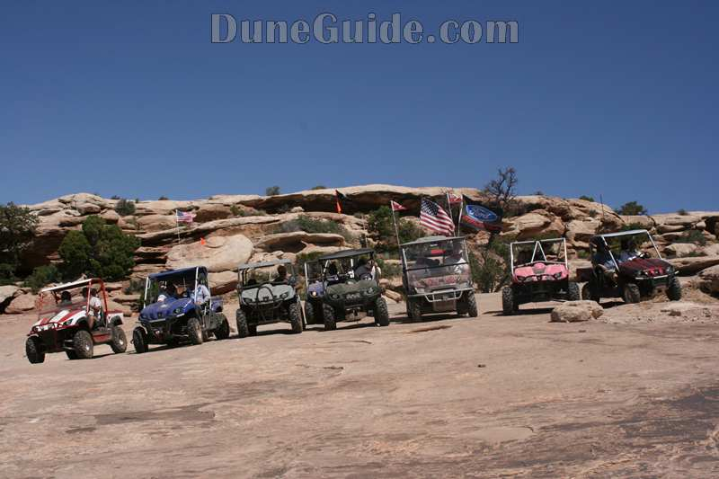 On the trail in Moab at the UTV Rally - Gold Bar Trail